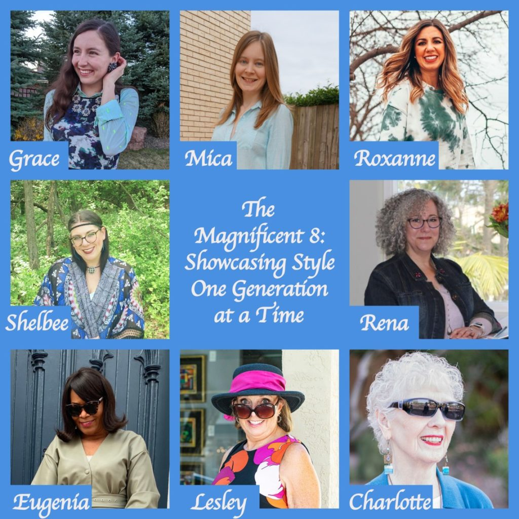 Grunge Clothing by popular Chicago fashion blog, Glass of Glam: collage image of the Magnificent 8 women.