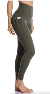 Olive Clothing by popular Chicago fashion blog, Glass of Glam: image of olive green leggings.