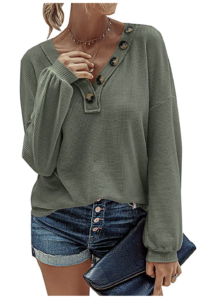 Olive Clothing by popular Chicago fashion blog, Glass of Glam: image of a olive green top.