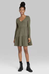 Olive Clothing by popular Chicago fashion blog, Glass of Glam: image of a olive green mini dress.
