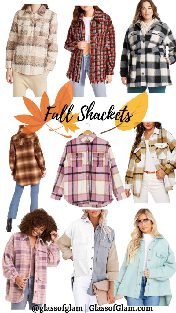Cute fall shackets featured by top Chicago fashion blogger, Glass of Glam